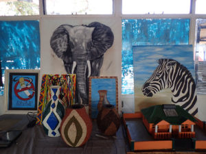 Some of the amazing artwork by students at Chobe Junior Secondary School