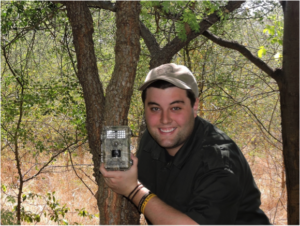"One of the camera ""traps"" I use to monitor the artificial waterholes."